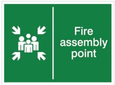 House Nameplate Co Fire Assembly Point - 15x20cm