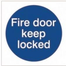 House Nameplate Co Fire Door Keep Lock - 10x10cm