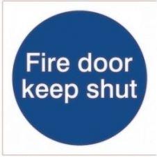 House Nameplate Co Fire Door Keep Shut - 10x10cm - Sticker