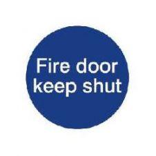 House Nameplate Co Fire Door Keep Shut - 10x10cm