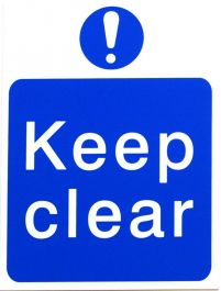 House Nameplate Co Keep Clear - Blue 15x20cm