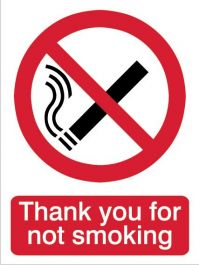 House Nameplate Co Thanks For Not Smoking - 15x20cm