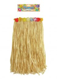 Hula Skirt with Flowers (Adult) 62cm W x 60cm L
