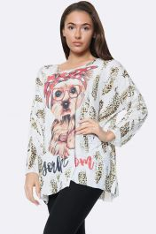 Italian Fashion Terrier Print Tunic Top
