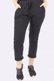 Italian Plain Pocket Trousers Black