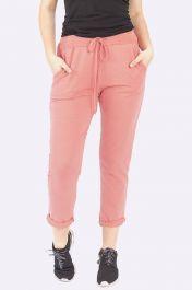 Italian Plain Pocket Trousers Dusty Pink