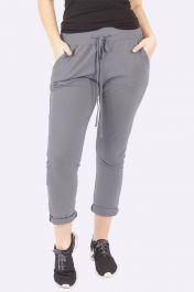 Italian Plain Pocket Trousers Grey