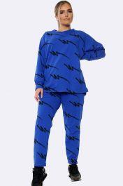 Italian Thunder Bolt Loungewear Royal Blue