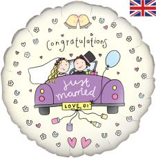 Just Got Married Balloon (18 Inches)