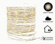 Kaemingk 12m Micro LED Outdoor Twinkle Lights - Warm White
