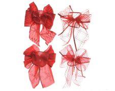 Kaemingk Assorted Bows - 11x15 Christmas Red