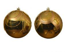 Kaemingk Deco Baubles 10cm - Light Gold