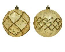 Kaemingk Deco Baubles 8cm - Light Gold
