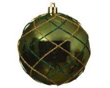 Kaemingk Deco Baubles 8cm - Pine Green
