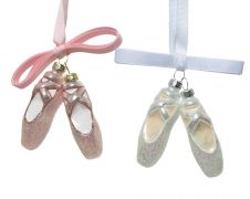 Kaemingk Glass Ballet Shoes With Bow
