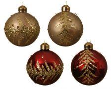Kaemingk Glass Bauble Glitter Branch Decoration - 8cm