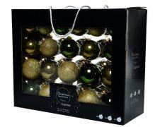 Kaemingk Glass Baubles Pack 42 - Green Mix