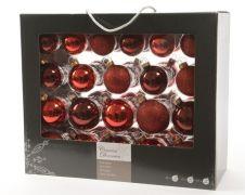 Kaemingk Glass Baubles - Red