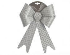 Kaemingk Glitter Bow - Silver Check