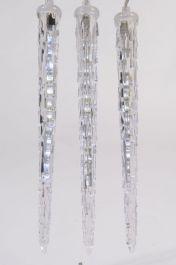 Kaemingk LED 18cm Icicle Lights - 2.7m Cool White