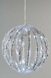 Kaemingk LED Acrylic Ball - 30cm, 80 lights