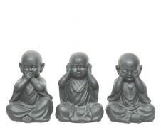 Kaemingk Magnesium Sitting Monk - Anthracite