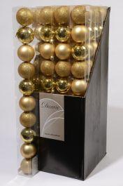 Kaemingk Plain Shatterproof Baubles Pack 10 - 60mm Light Gold