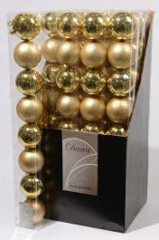Kaemingk Plain Shatterproof Baubles Pack 8 - 70mm Light Gold