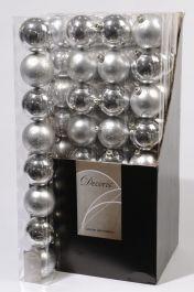 Kaemingk Plain Shatterproof Baubles Pack 8 - 70mm Silver