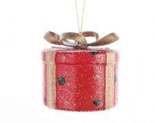 Kaemingk Round Present With Hanger - Red