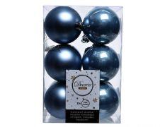 Kaemingk Shatterproof Baubles Pack 12 - 6cm Night Blue