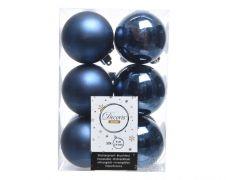 Kaemingk Shatterproof Baubles Pack 12 - Night Blue 6cm