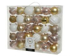 Kaemingk Shatterproof Baubles Pack 60 - Crystal Ball 8cm Mix