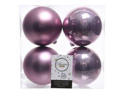 Kaemingk Shatterproof Plain Baubles - 10cm C/Lilac