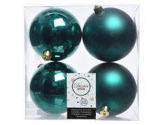 Kaemingk Shatterproof Plain Baubles - 10cm Emerald Green