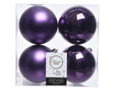 Kaemingk Shatterproof Plain Baubles - 10cm P/Purple