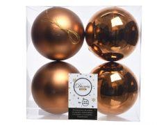 Kaemingk Shatterproof Plain Baubles - 10cm R/Brown