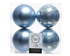 Kaemingk Shatterproof Plain Baubles - 10cm S/Blue