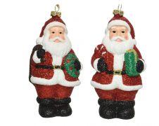 Kaemingk Shatterproof Santa With Hanger - Red/White