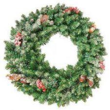 Kaemingk Sherwood Frosted Wreath - 40cm