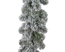 Kaemingk Snowy Imperial Garland Green/White - 20 x 270cm