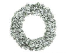 Kaemingk Snowy Imperial Wreath - 35cm Green/White