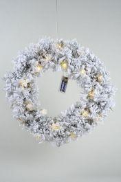 Kaemingk Snowy Toronto Wreath - 35cm