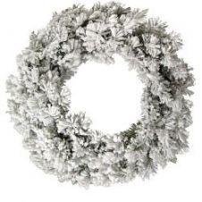 Kaemingk Snowy Toronto Wreath - 50cm