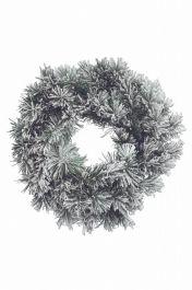 Kaemingk Snowy Vancouver Wreath Green/White - 50cm