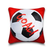 KIDS CUSHION COVER FOOTBALL RED