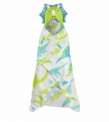 Kids Dinosaur Hooded Throw