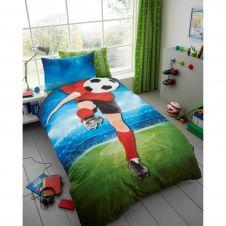 KIDS PANEL DUVET SET FOOTBALL - 7107