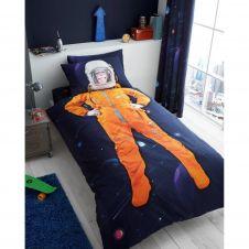 KIDS PANEL DUVET SET SPACE CHIMP - 7145