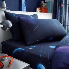KIDS PANEL SHEET SET SINGLE SPACE CHIMP - 7329